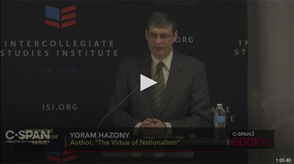 VIDEO: Acceptance Speech for ISI Book Award - Yoram Hazony
